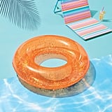 Glitter Tube Pool Float Peach
