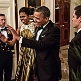 President Barack Obama and First Lady Michelle Obama made their glam arrival at the Kennedy Center Honors.