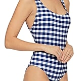 Open-Back Gingham Swimsuit