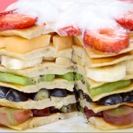 Healthy Rainbow Pancakes