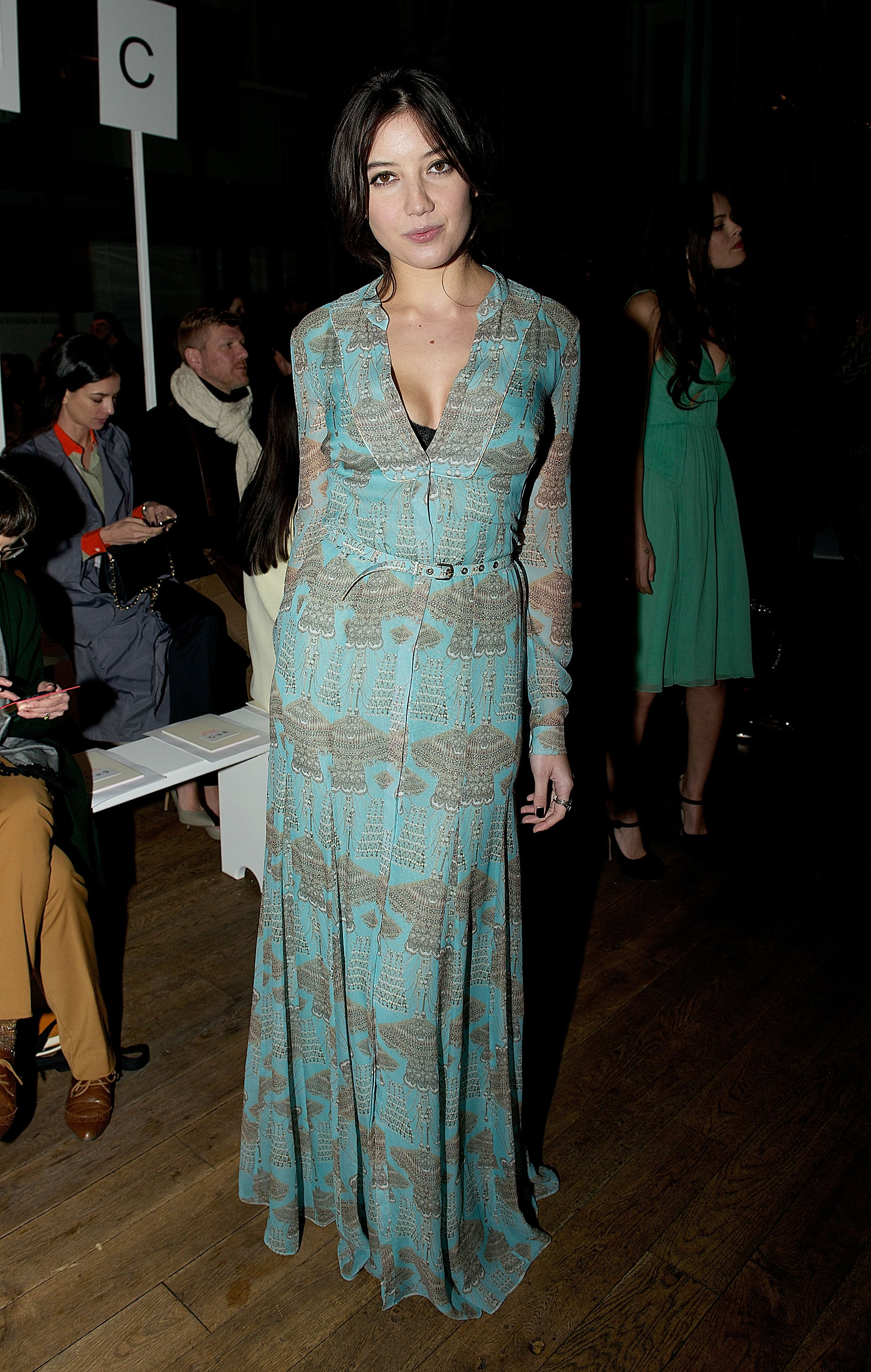 Daisy Lowe at the Matthew Williamson Fall 2013 show in London.