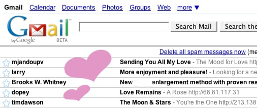 Valentine's Day Spam Emails Have Started Rolling In