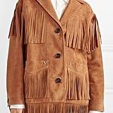 Miu Miu Oversized Fringed Suede Jacket
