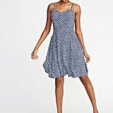 Old Navy Fit & Flare Printed Cami Dress