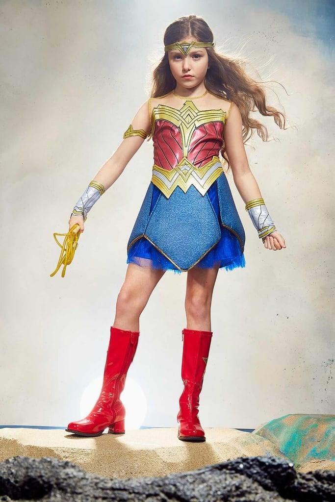 Wonder Woman Halloween Costume Kids.Superhero Halloween Costumes For Kids 2018 Popsugar Family