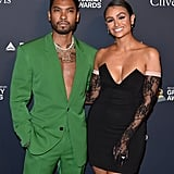 Miguel and Nazanin Mandi at Clive Davis's 2020 Pre-Grammy Gala in LA