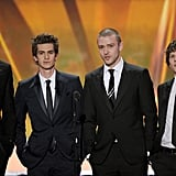 The Social Network boys looked sharp.