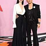 Posing with designer Prabal Gurung.