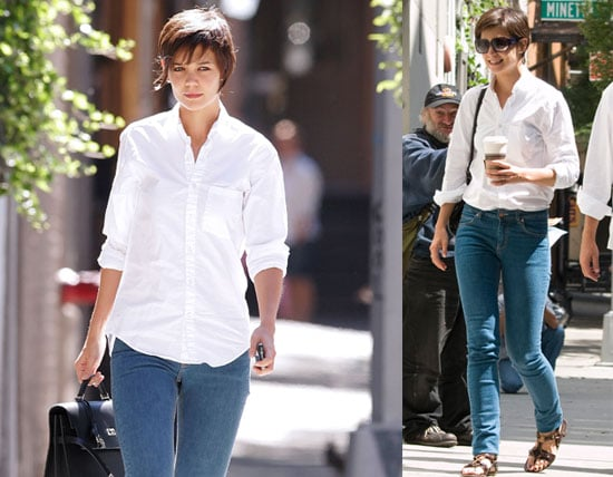 Photos of Katie Holmes in Manhattan, the Day After Tropic Thunder Premiere in Los Angeles