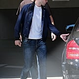 Robert Pattinson headed to his car.