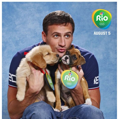 Olympians With Puppies