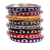 These studded bangles (£8.50) would look great piled up.