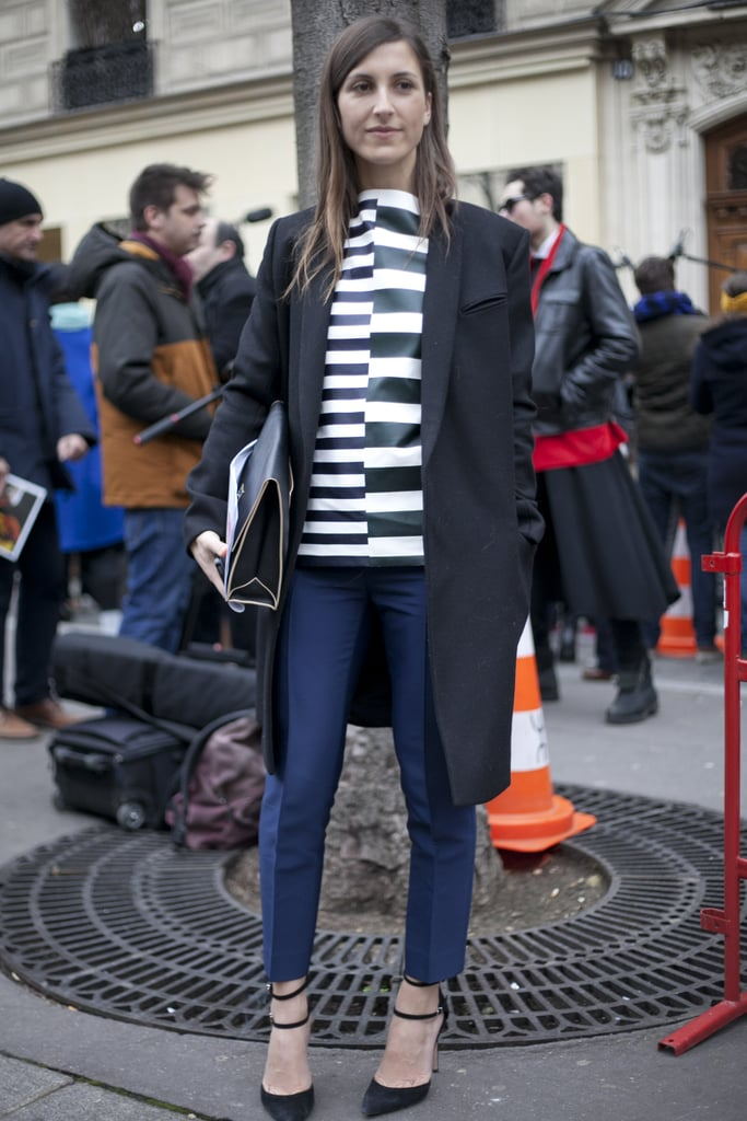 Graphic stripes played up the cool factor in this minimalist look.