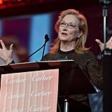 """Meryl Streep joked that as the night's final honoree, she was """"either at the top of the heap or the bottom of the barrel."""""""