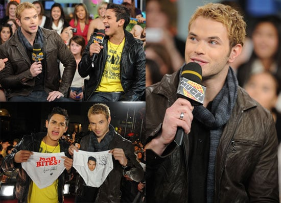 Photos of Kellan Lutz Promoting New Moon at MuchMusic in Toronto