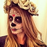 Lo Bosworth showed off her impressive Dia de los Muertos makeup. Source: Instagram user lobosworth