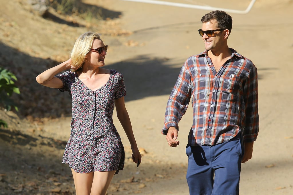 Stylish couple Diane Kruger and Joshua Jackson kept up appearances when they went for an afternoon stroll in LA on July 25.