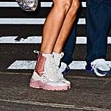 Bella Hadid Sheer Dress and Sneakers Victoria's Secret 2018