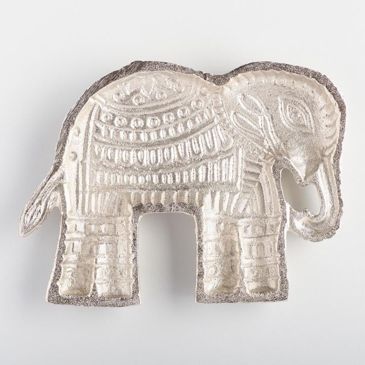 Silver Elephant Trinket Dish