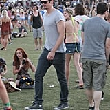 Alexander Skars roamed the grounds at Coachella's second weekend.