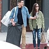 Photogenic couple Jesse Metcalfe and Cara Santana went shopping in LA on Friday.