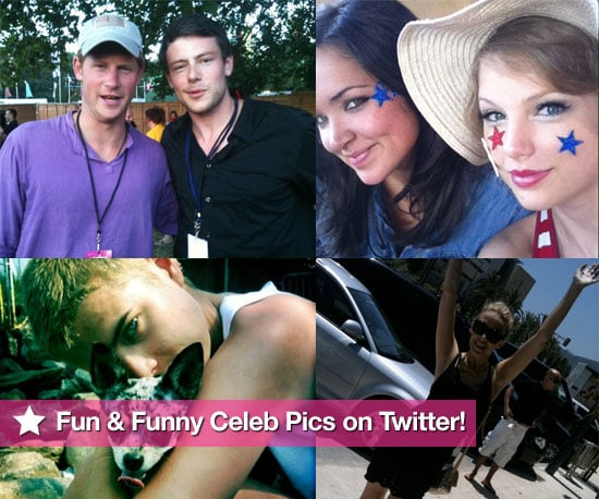 Pictures From Celeb Twitter Accounts Including Kylie and Dannii Minogue, Tom Hanks, Lily Allen, Louie Spence, Eva Longoria