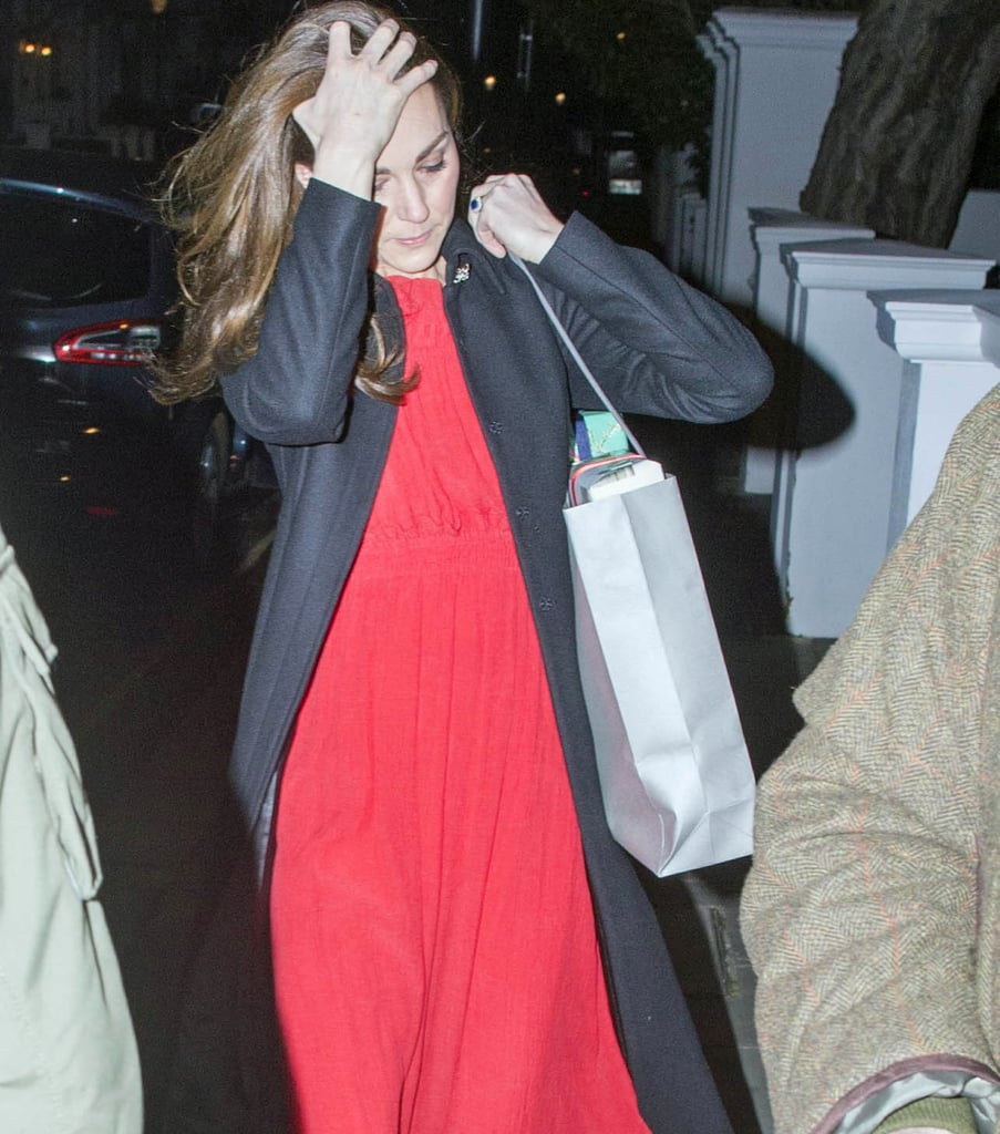 She Accessorised With Her Engagement Ring and Red Simone Rocha Earrings