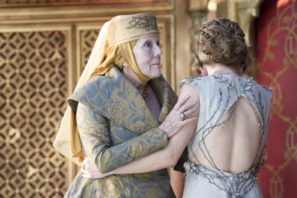 Lady Olenna and her granddaughter have a moment.