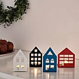 Vinterfest House Tealight Holders Set