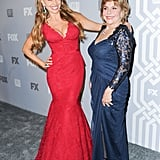 Sofia Vergara and her mom posed on the red carpet at the Fox and FX Emmys afterparty.