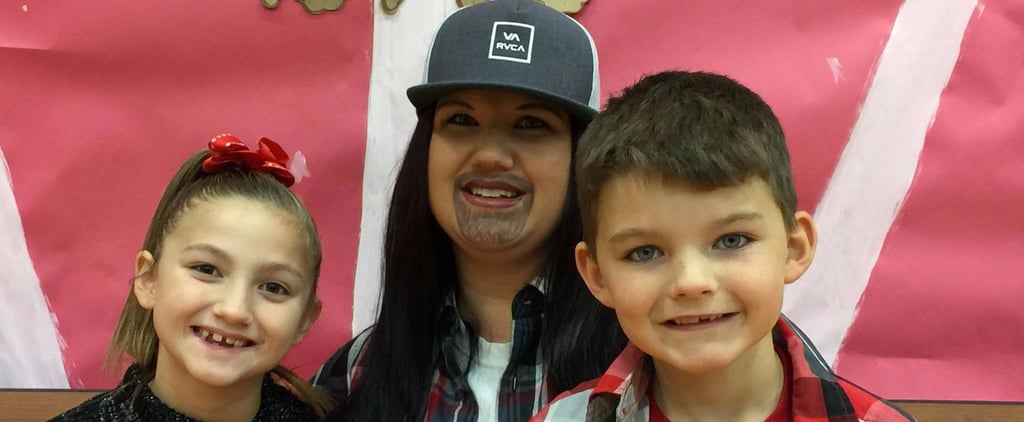 After Years of Attending a School Event For Dads, This Single Mom Got Into Character