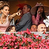 The races were lively with Sarah Jessica Parker and Elizabeth Hurley in the audience.