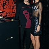 At New York's Le Baron, Geordon Nicol and Leigh Lezark hit the Emerson afterparty.