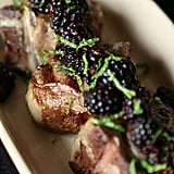 Grilled Lamb Loin Chops With Blackberry Sauce