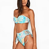 Victoria's Secret Bustier Bandeau and High-Waist Side Lace Bottom