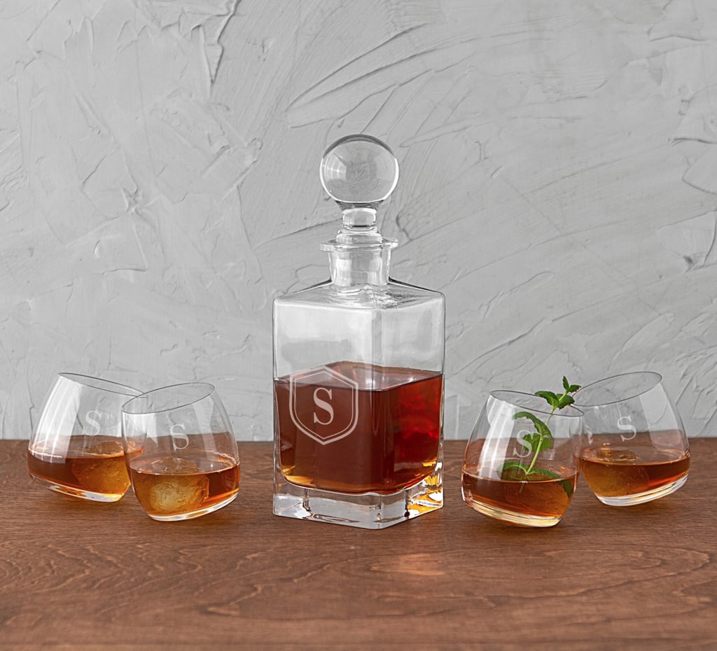 Cathy's Concepts Tipsy Whiskey 5-Piece Decanter Set
