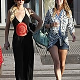 Paris and Nicky Hilton made a stylish arrival in Ibiza, Spain, in August 2011.