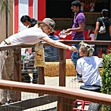 Gwen Stefani and Kingston at Underwood Family Farms.