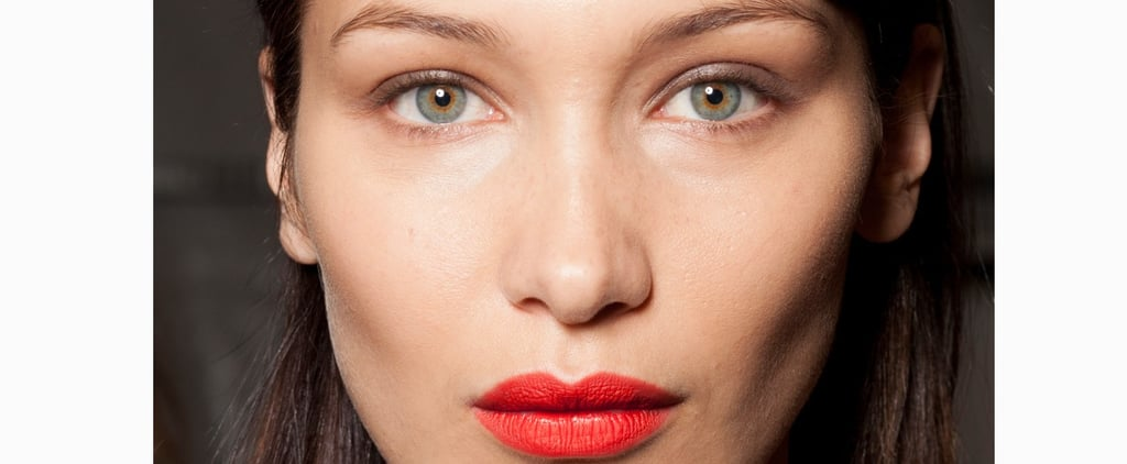 Bella Hadid Eats Pizza in Lipstick