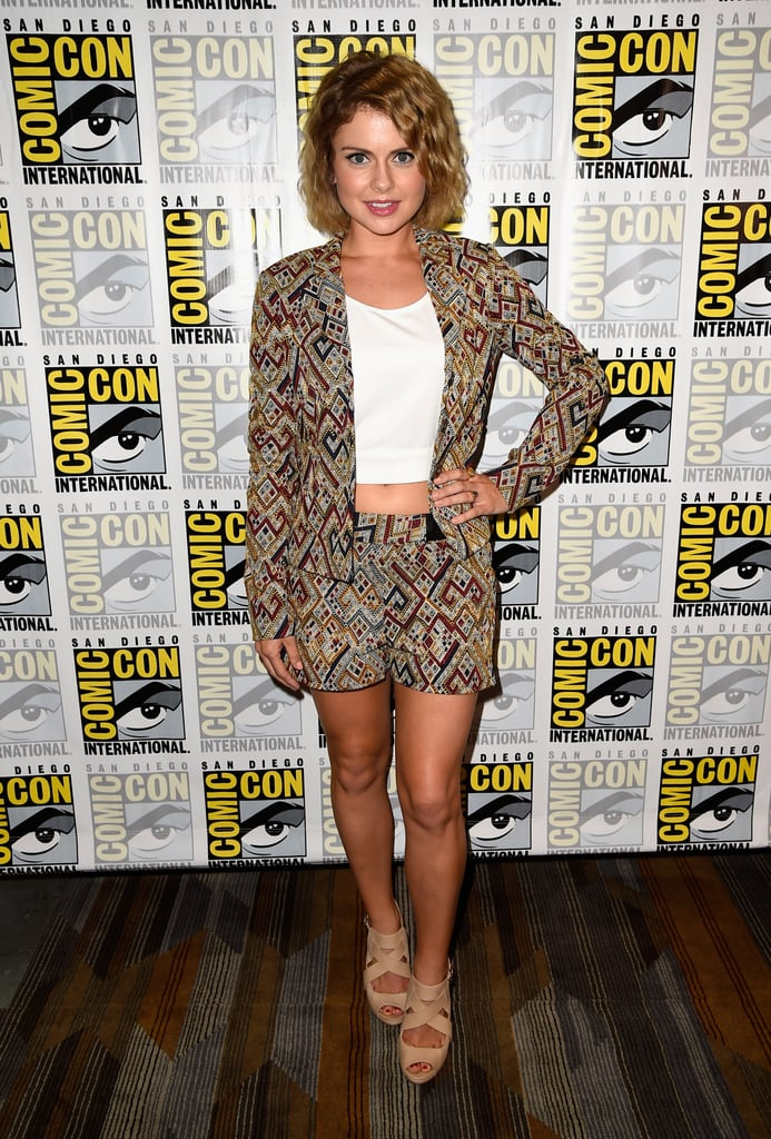 Rose McIver showed off her stems at the Sin City: A Dame to Kill For event on Saturday.