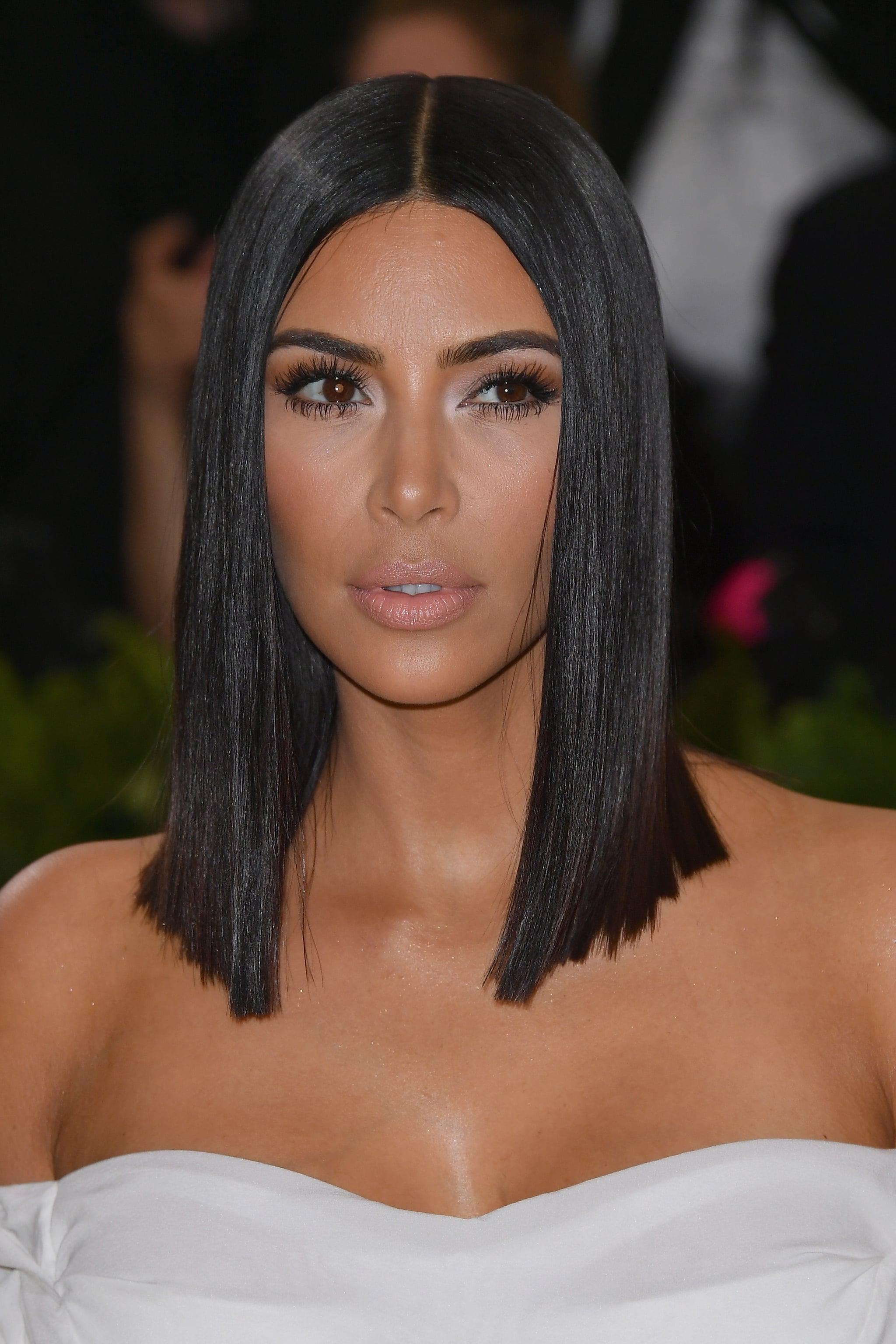 Kim Kardashian Hair and Makeup at the Met Gala 2017 ... Kim Kardashian