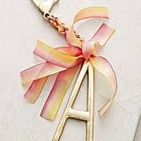 Anthropologie Ribboned Monogram Keychain ($18)
