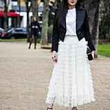 Try a Tiered Tulle Skirt