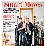 Jeremiah Brent, Nate Berkus, and their daughter, Poppy, cover the October 2015 edition of Architectural Digest.