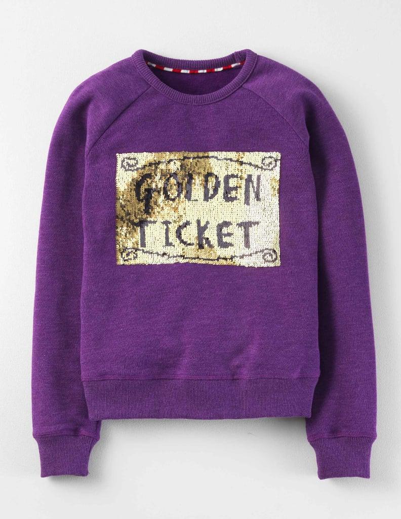 """Mini Boden Roald Dahl """"Golden Ticket"""" Sweatshirt"""