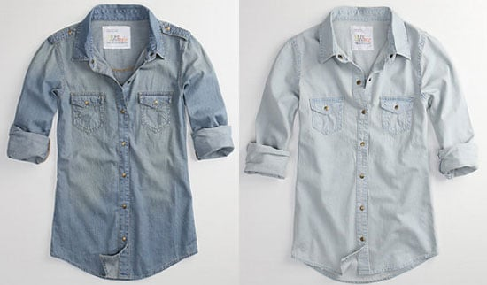 Denim Button-Down Shirt | POPSUGAR Fashion