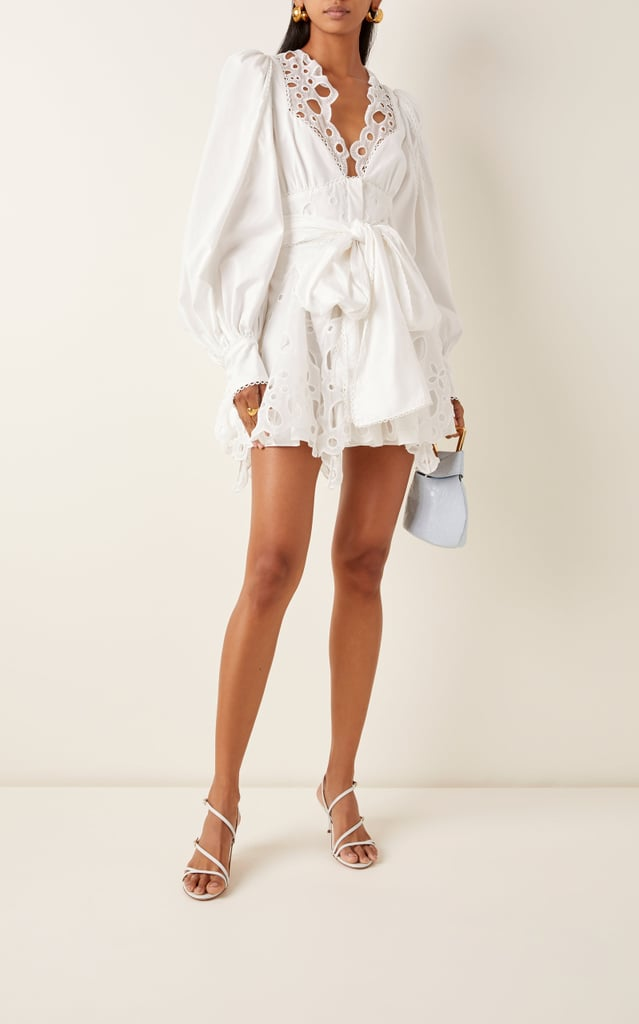 Acler Vicount Eyelet Cotton Mini Dress