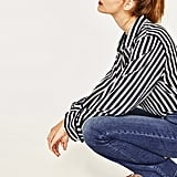 Zara the High-Waist Bootcut Jeans in Samurai Blue