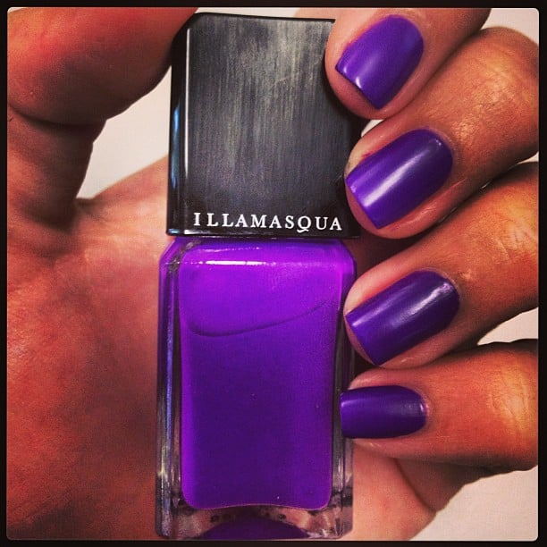 This is the new rubber-look nail polish from Illamasqua — Alison tried it and loved it, and you can read her review here.