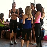 Candice Swanepoel hosted a yoga event in NYC for Victoria's Secret. Source: Instagram user fabsugar